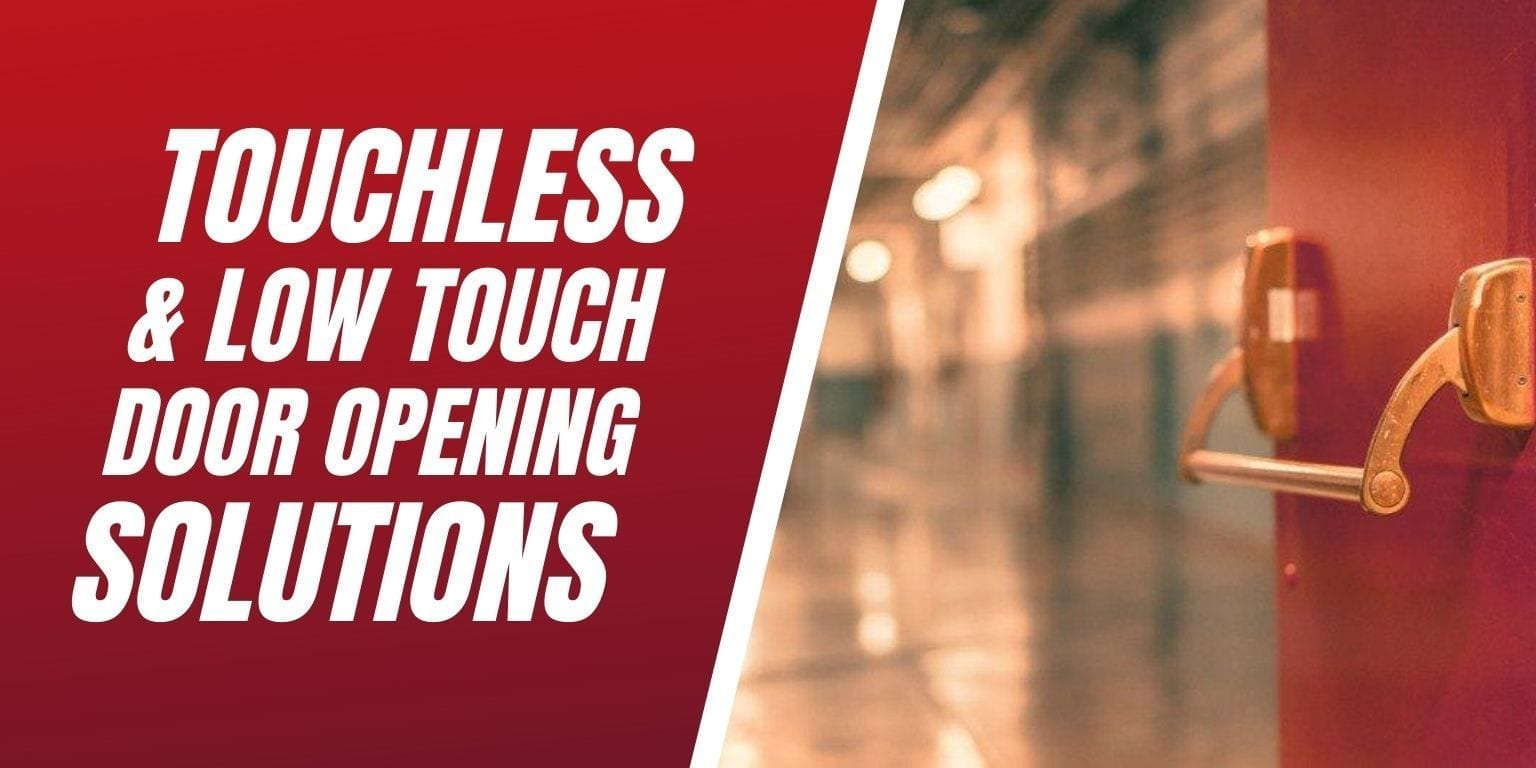 Touchless and low touch door opening solutions