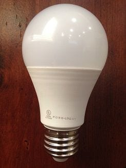 9 watt Pure-Light® Super-Oxygen® Dimmable LED Light Bulb