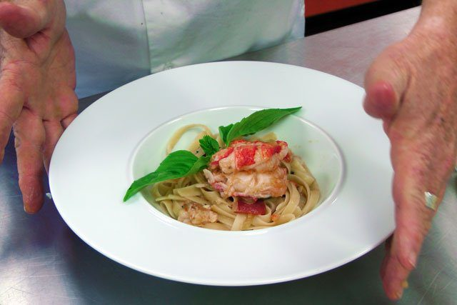 Lobster blush pasta - the finished dish