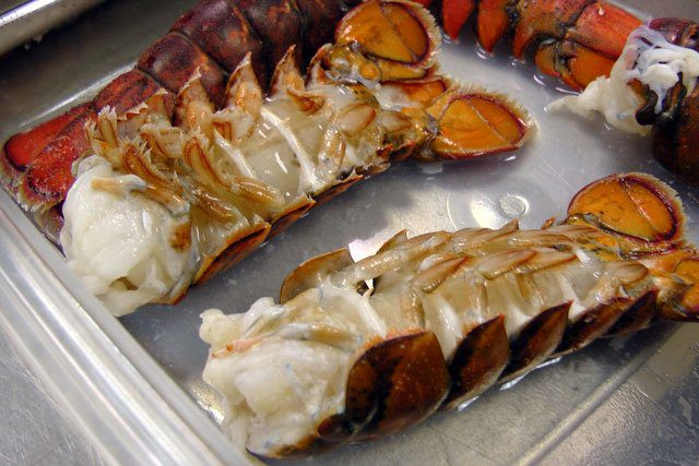 lobster tails cooked in CVap