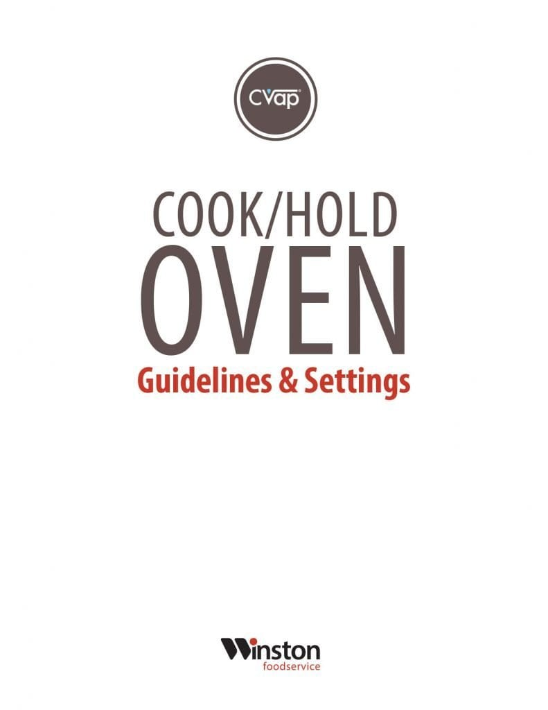 CVap CAC Cook and Hold Oven Guidelines Cover