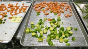 Carrots and Brussel Sprouts cooked in CVap oven