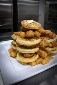 Chicken and Waffles and Tots