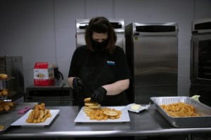 Chef Sam Assembles Chicken and Waffles
