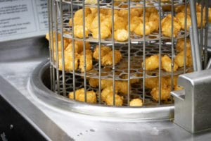 Tots fresh out of the fryer